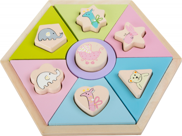 Animale in culori pastelate, puzzle cu piese groase 1