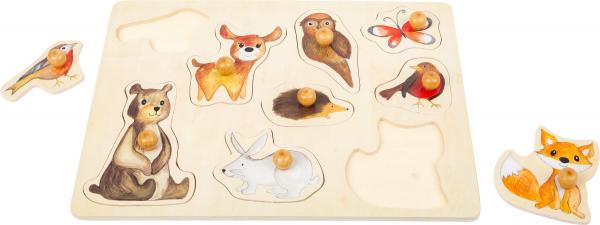 """Puzzle"""" Animalele Padurii"""" din lemn 1"""