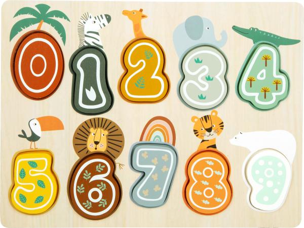 Puzzle cifre Safari 0