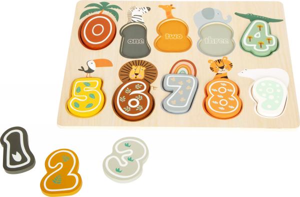 Puzzle cifre Safari 1