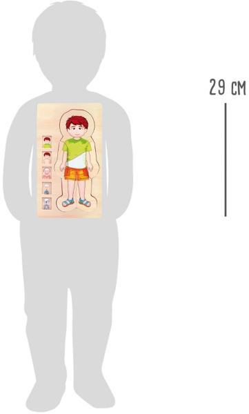 Puzzle din lemn corpul uman Tim 3