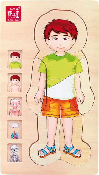 Puzzle din lemn corpul uman Tim 1
