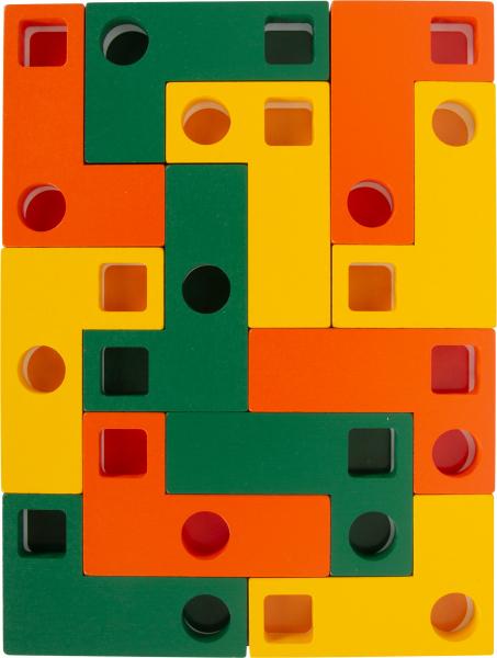 Joc Tetris din lemn - Sa aranjam formele geometrice 3
