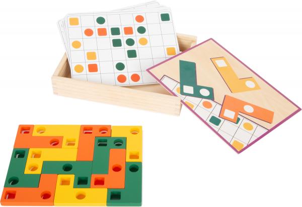 Joc Tetris din lemn - Sa aranjam formele geometrice 1