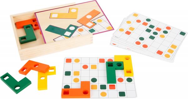 Joc Tetris din lemn - Sa aranjam formele geometrice 0