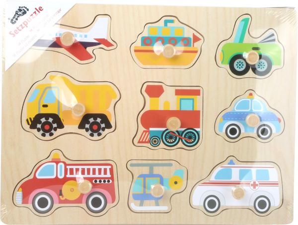 Puzzle din lemn Vehicule 1