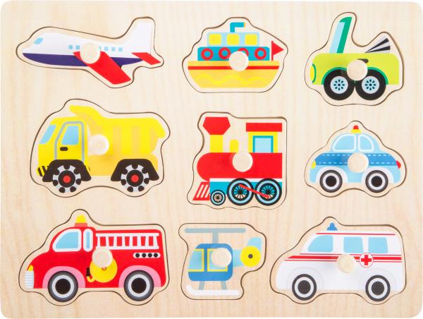 Puzzle din lemn Vehicule 2