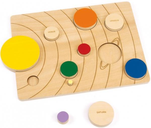 Sistemul solar, puzzle educativ din lemn [0]