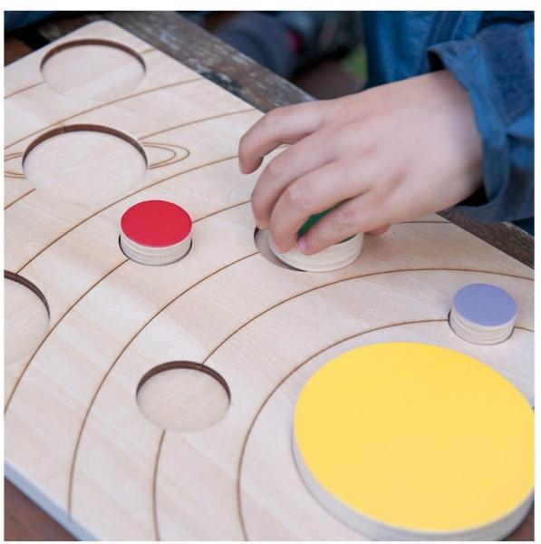 Sistemul solar, puzzle educativ din lemn [5]