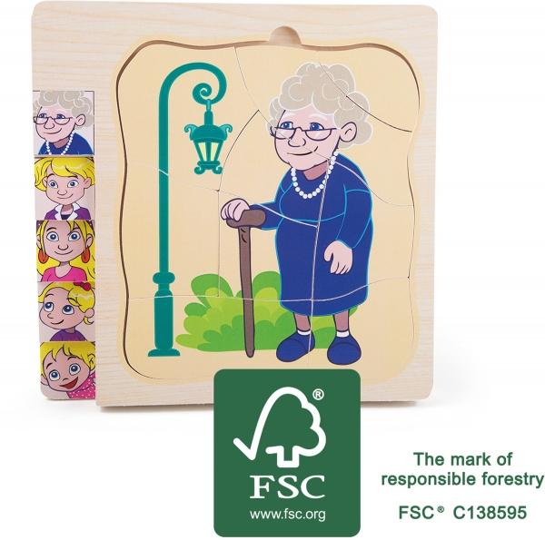 Puzzle in straturi Viata Bunicii 0