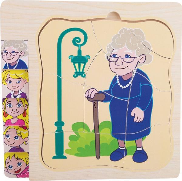Puzzle in straturi Viata Bunicii 1