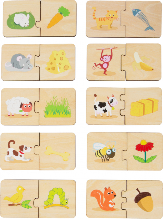 Ce mananca animalele? Puzzle in cutie 1