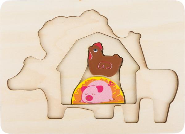 "Puzzle suprapus  ""Animale de la Ferma"" 3"