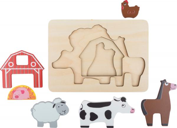 "Puzzle suprapus  ""Animale de la Ferma"" 4"