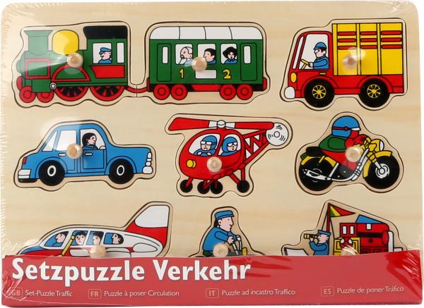 Puzzle Mijloace de transport, 9 piese cu butoane 1