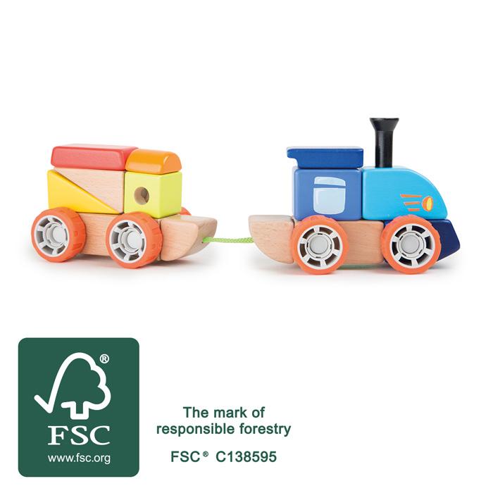 Trenuletul colorat, joc de constructie din lemn [1]