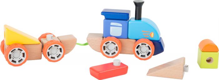 Trenuletul colorat, joc de constructie din lemn [2]