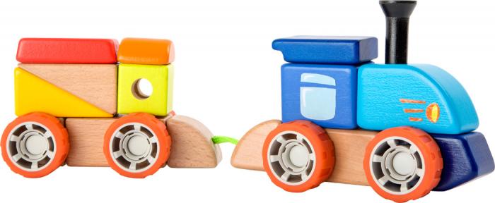 Trenuletul colorat, joc de constructie din lemn [4]