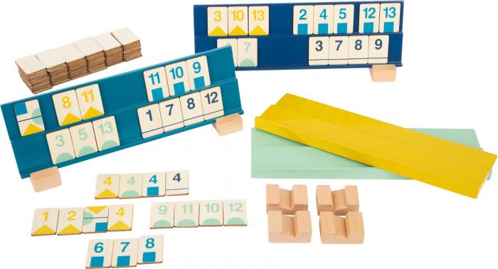 Rummy, jocul cifrelor, in culori pastel 1