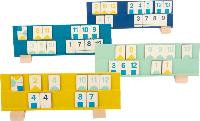 Rummy, jocul cifrelor, in culori pastel 2