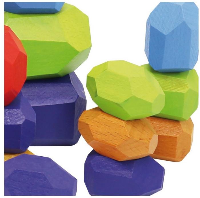 Set 30 pietre din lemn, joc de stivuit si de echilibru [3]