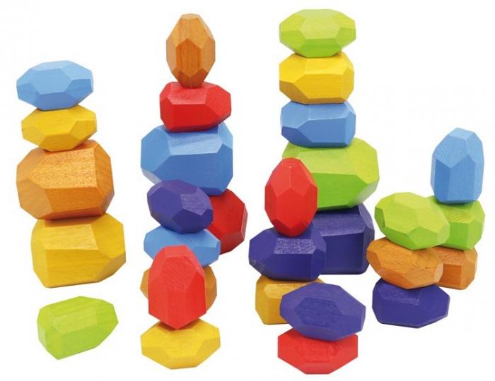 Set 30 pietre din lemn, joc de stivuit si de echilibru [0]