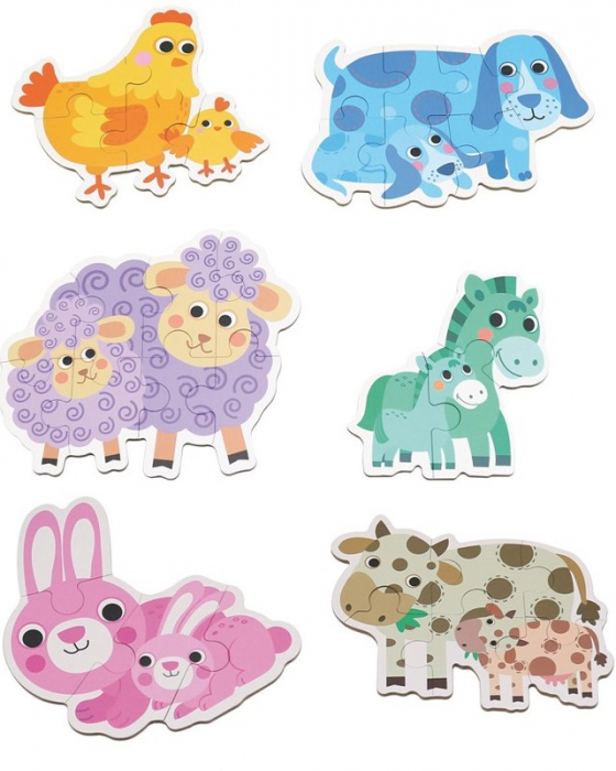 Set de 6 Puzzle-uri Animale de la ferma [0]
