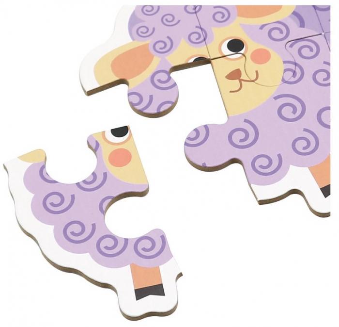 Set de 6 Puzzle-uri Animale de la ferma [4]