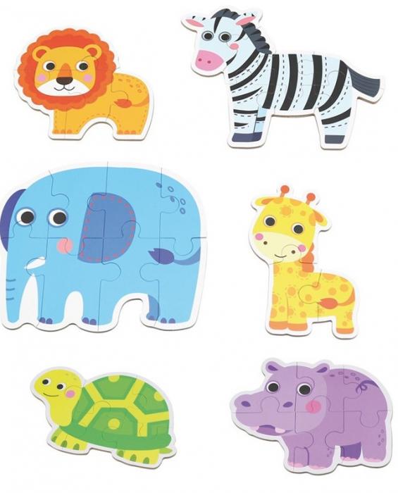Set de 6 Puzzle-uri Animale din Savana [0]