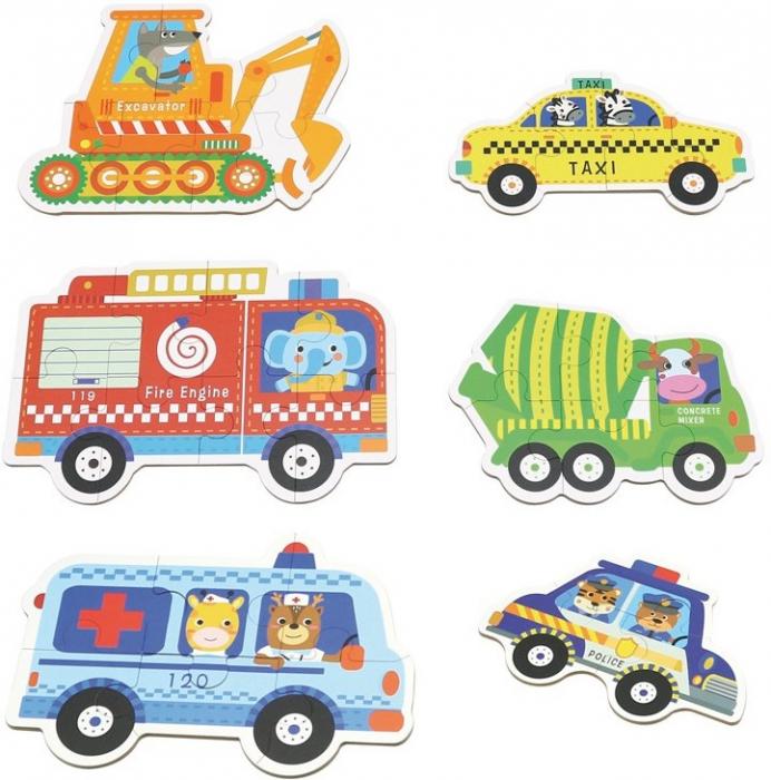 Set de 6 Puzzle-uri Vehicule [1]