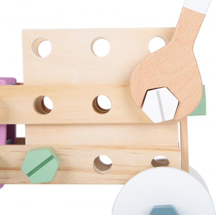 Set de construit Mesterul Priceput in culori pastel 1