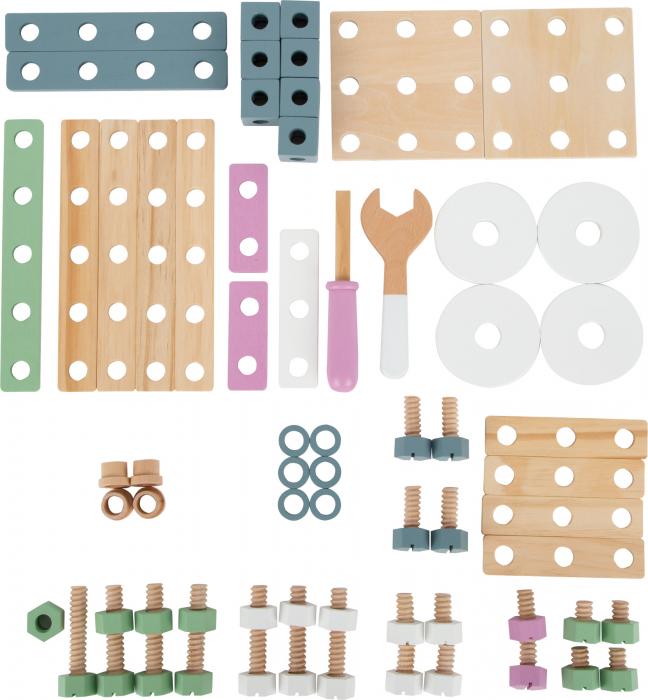 Set de construit Mesterul Priceput in culori pastel 4