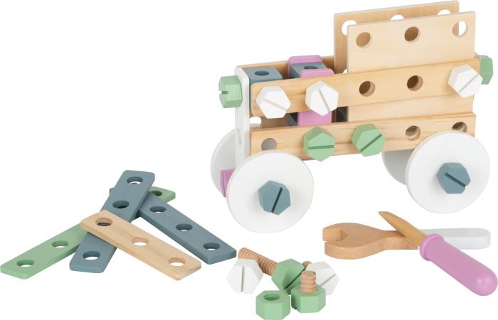 Set de construit Mesterul Priceput in culori pastel 0