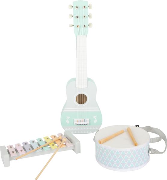 Set cadou instrumente muzicale in culori pastelate 1