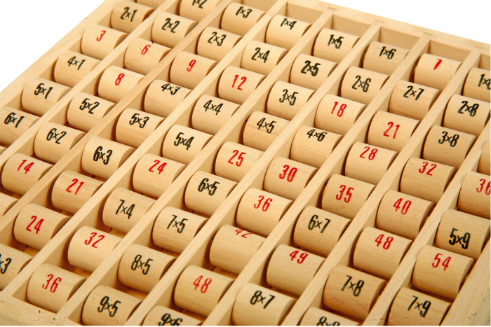 Tabla inmultirii din lemn, format mare 2