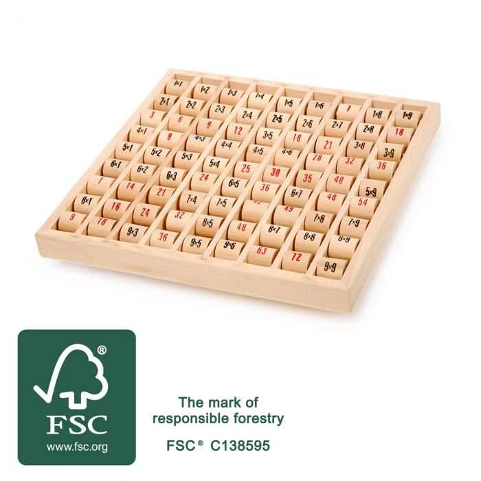 Tabla inmultirii din lemn, format mare 3