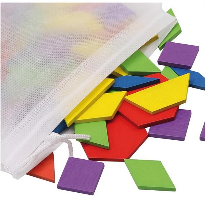 Tangram-joc din lemn pentru dezvoltarea imaginatiei cu 155 de piese [1]
