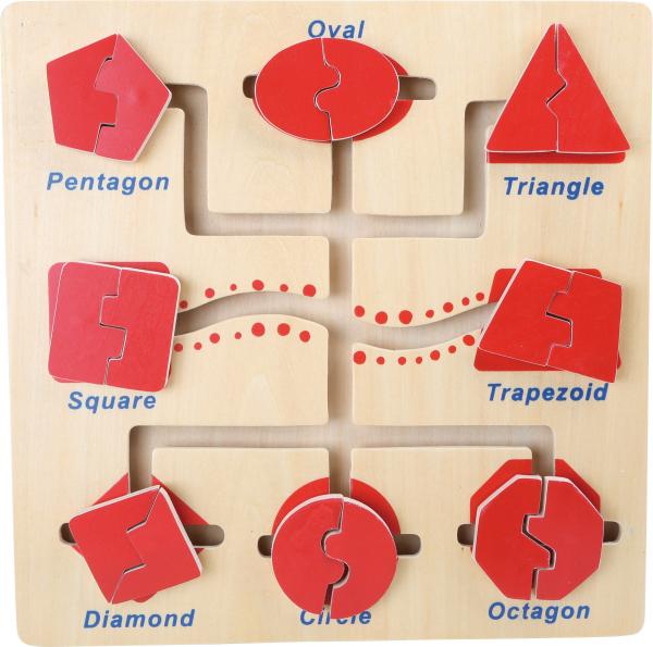 Puzzle educativ Recunoaste si Potriveste formele 1