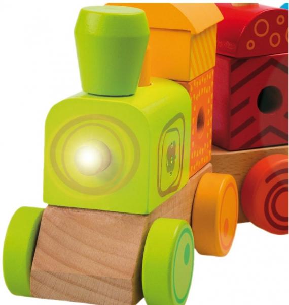 Trenulet multicolor cu sunete si lumina 1