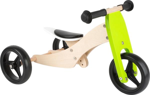 2 in 1 Tricicleta si Bicicleta din lemn 0