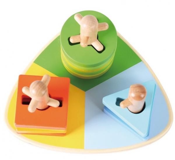 Triunghi motricitate din lemn Potriveste formele 6