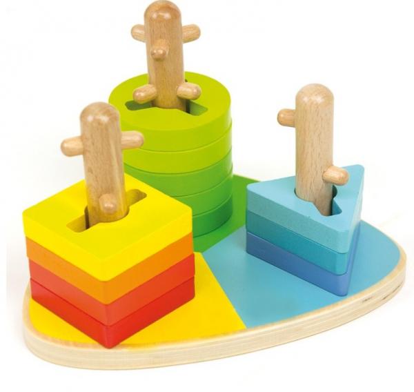 Triunghi motricitate din lemn Potriveste formele 2