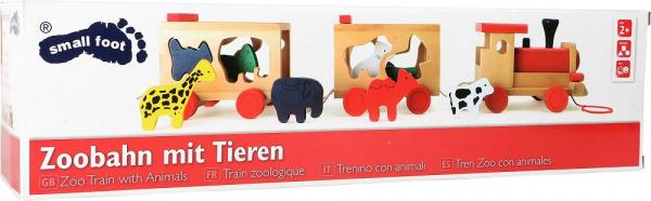 Zootrenul, jucarie potrivire forme animale din lemn 2