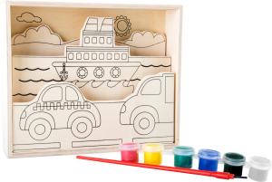 Set de pictat pe lemn Vehicule1