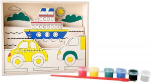 Set de pictat pe lemn Vehicule0