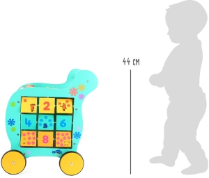 Antemergator educativ din lemn Elefant si Soricel8