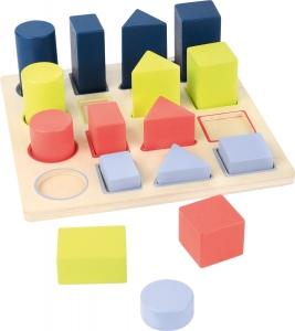 Forme si culori, puzzle 3D din lemn4