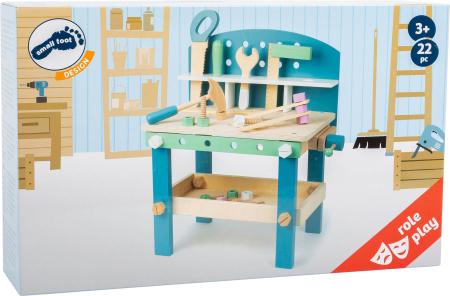 Banc de lucru din lemn, cu unelte, Nordic6