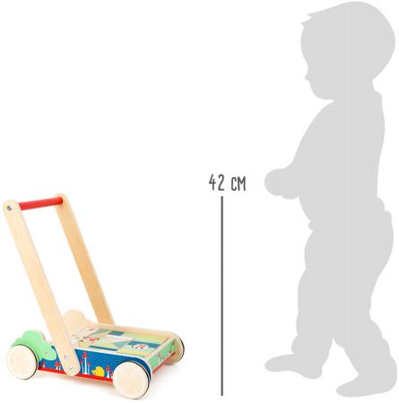 Invat sa merg, antemergator din lemn si cuburi de construit [4]