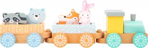 Trenuletul animalelor in culori pastelate4